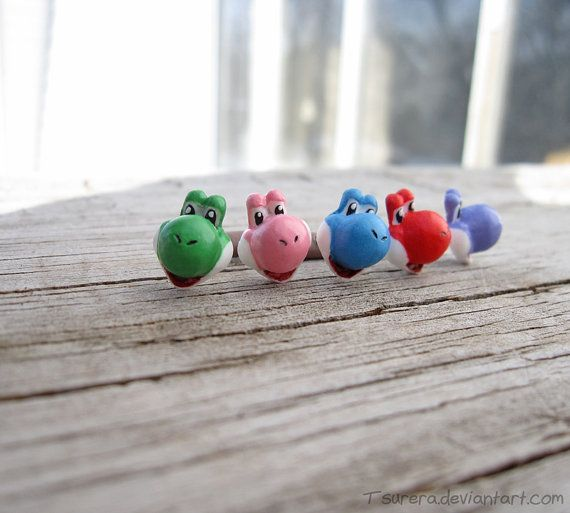 Hey, I found this really awesome Etsy listing at https://www.etsy.com/listing/150681059/super-nintendo-yoshi-earring-studs
