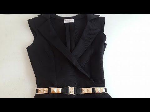 b97bc1e349 Vestido Escote Barco - Jazmin Gastelum - Nivel Intermedio - YouTube ...