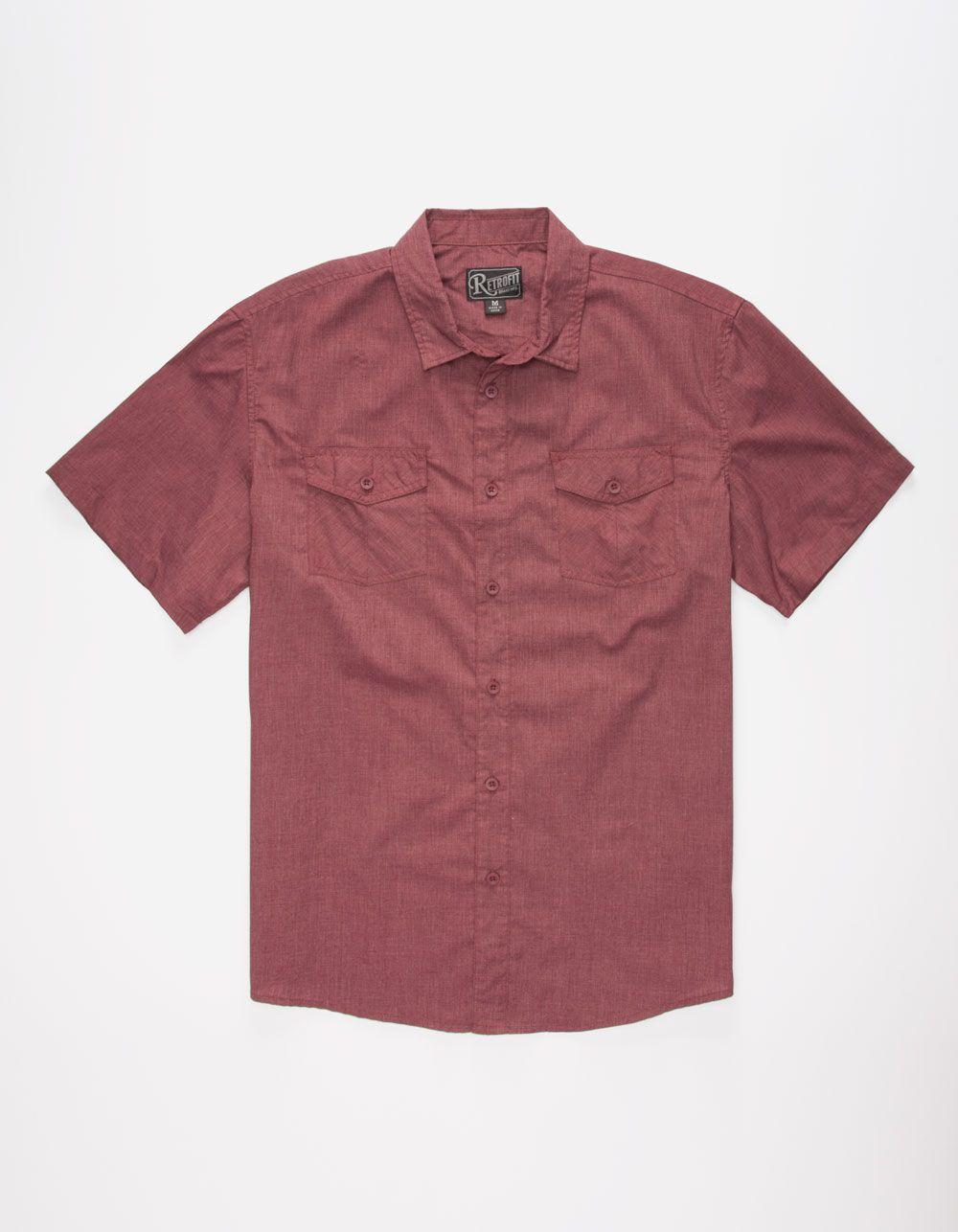 Flannel shirt with shorts men  RETROFIT Ian Mens Shirt   SS Shirts  NEW ARRIVALS
