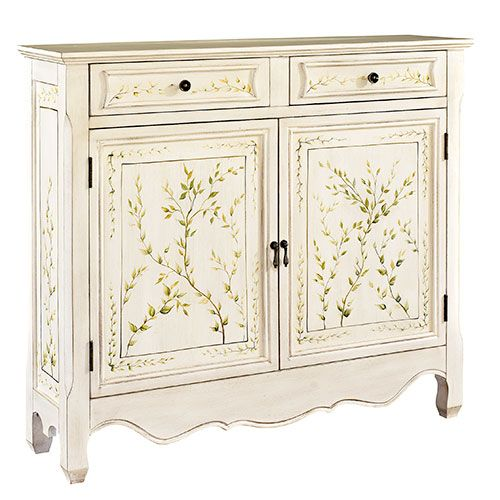 Charming Powell Slim Line Console Table   White