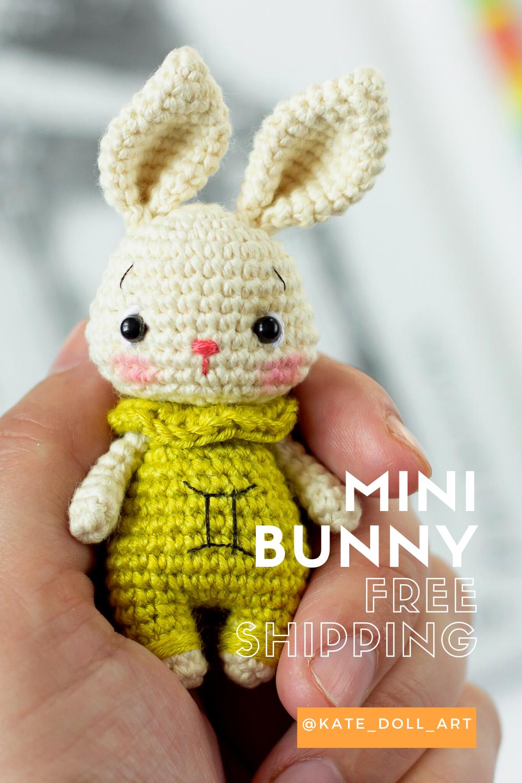 Amigurumi Mini Bunny Crochet Pattern | 1500x1000