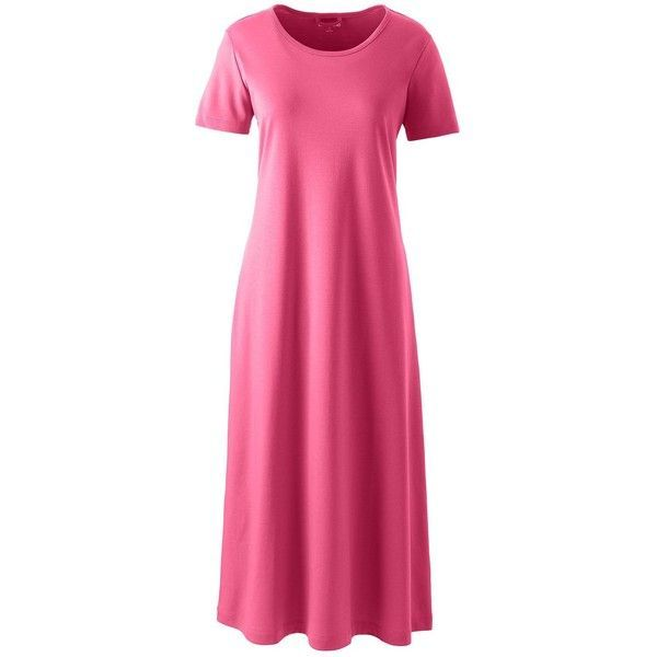 849f7befaf Lands  End Women s Plus Size Supima Cotton Midcalf Nightgown ( 49) ❤ liked  on