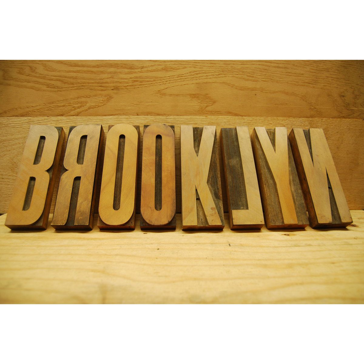 "Wood Type Brooklyn 7.5""  by dAN's Parents' House"