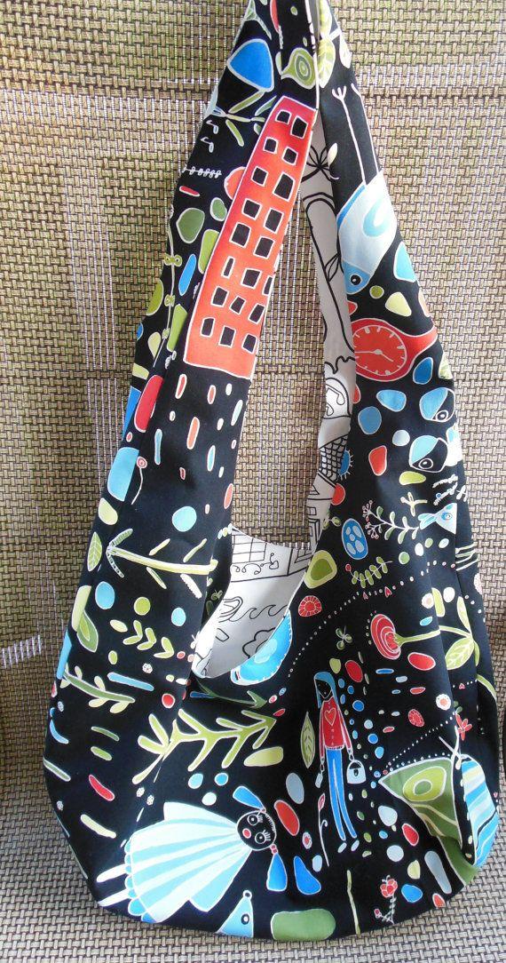 Hobo bag pattern, reversible bag, sling bag pattern, shoulder bag in ...