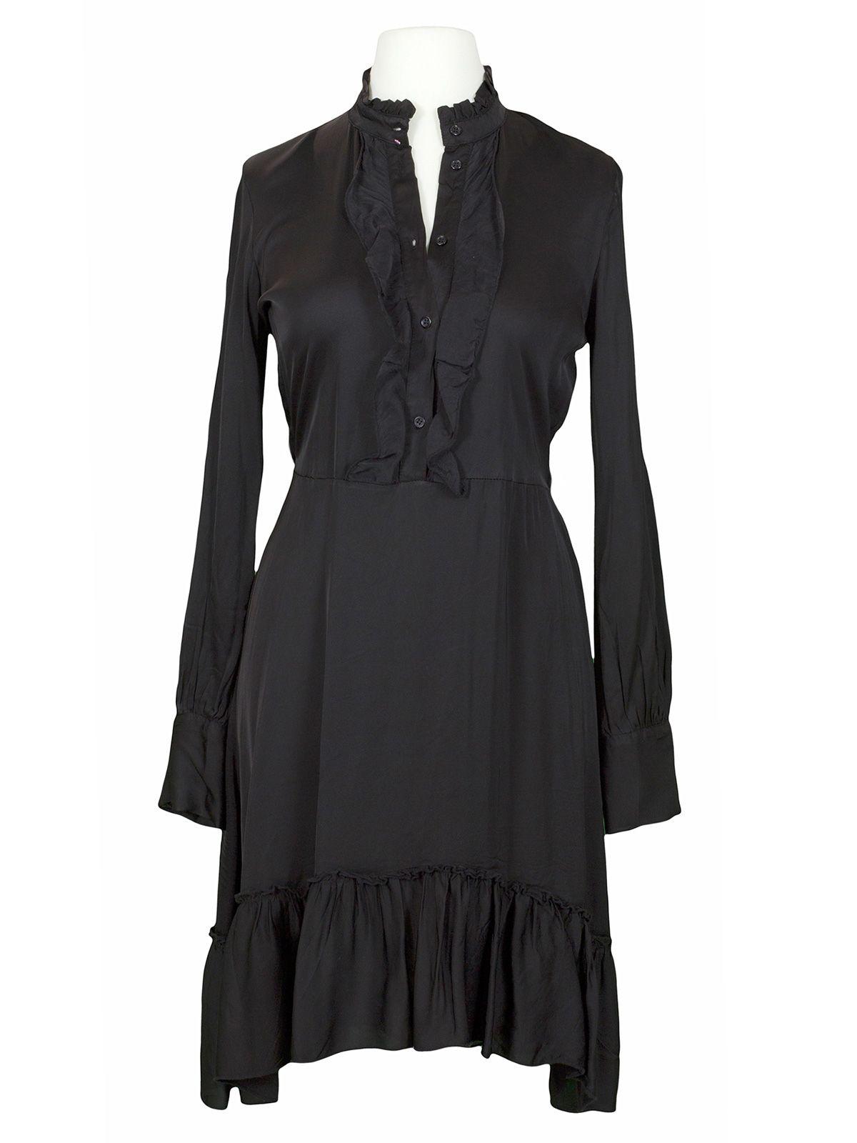 satin kleid mit rüschen, schwarz bei meinkleidchen kaufen
