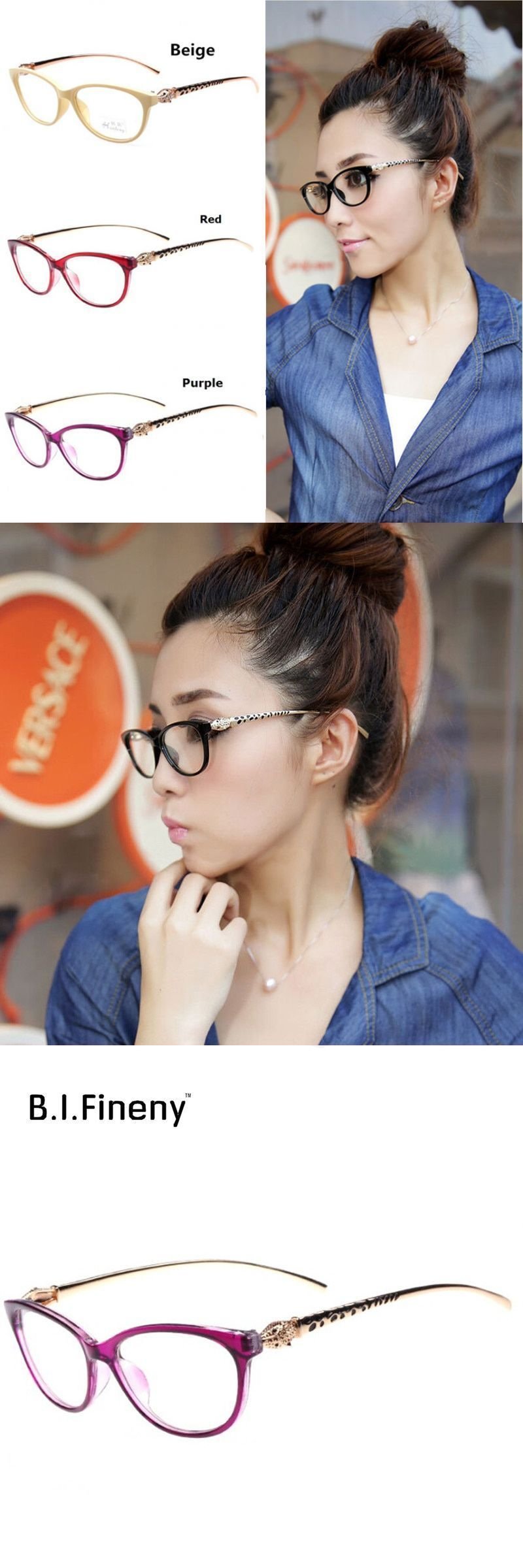 b2ea5223fc Fashion cheetah earstems glasses frames women ladies leopard decorative  reading glasses frames no degree  frames  eyewear  accessories  women   alloy  animal ...