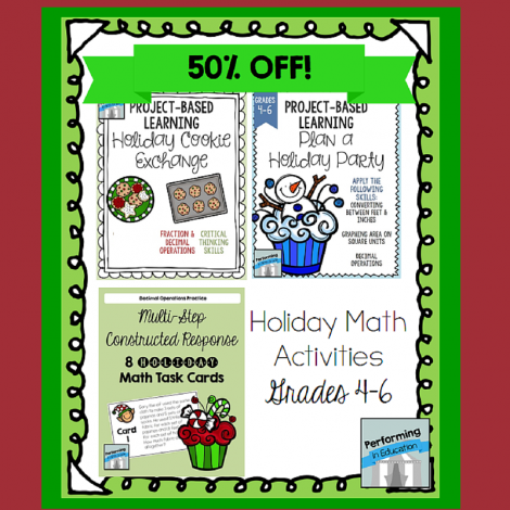 Have you seen this pack of Christmas-Themed Math Activities for grades 4-6? It's 50% OFF on Educents!
