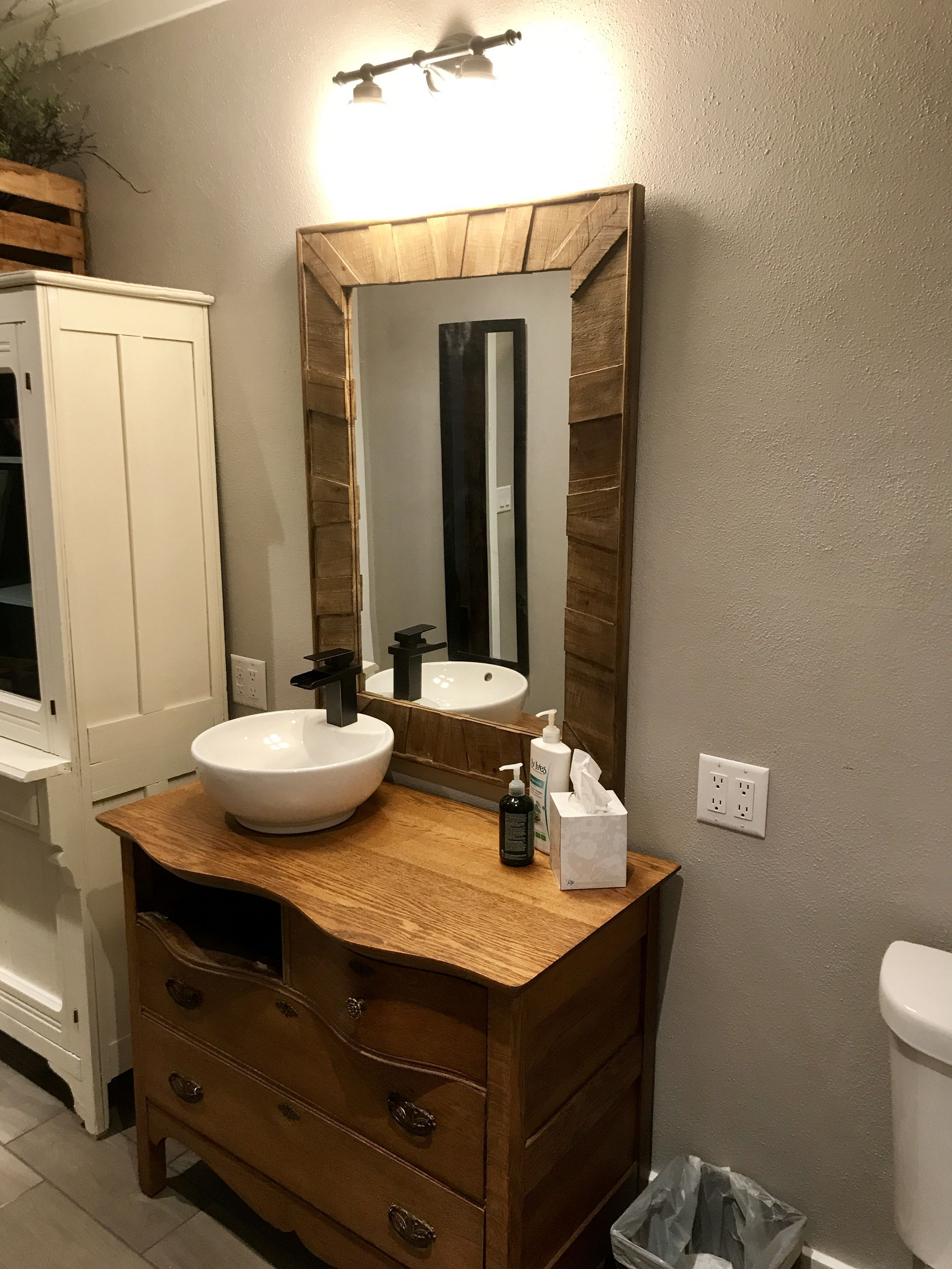 We Used An Old Dresser And A Vessel Sink To Create This One Of A