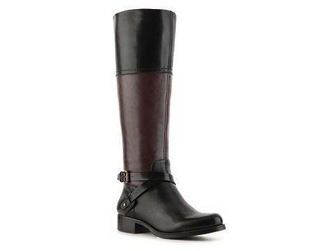 be4798ab87a Audrey Brooke Abey Two-Tone Wide Calf Riding Boot Women's Wide Width ...