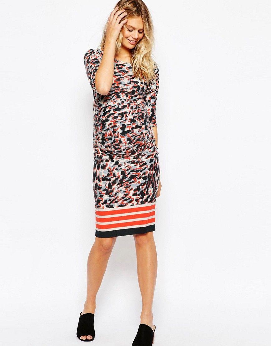 4e41bf37b30e9 Maternity Bodycon Dress in Leopard Print | Maternity Clothing ...