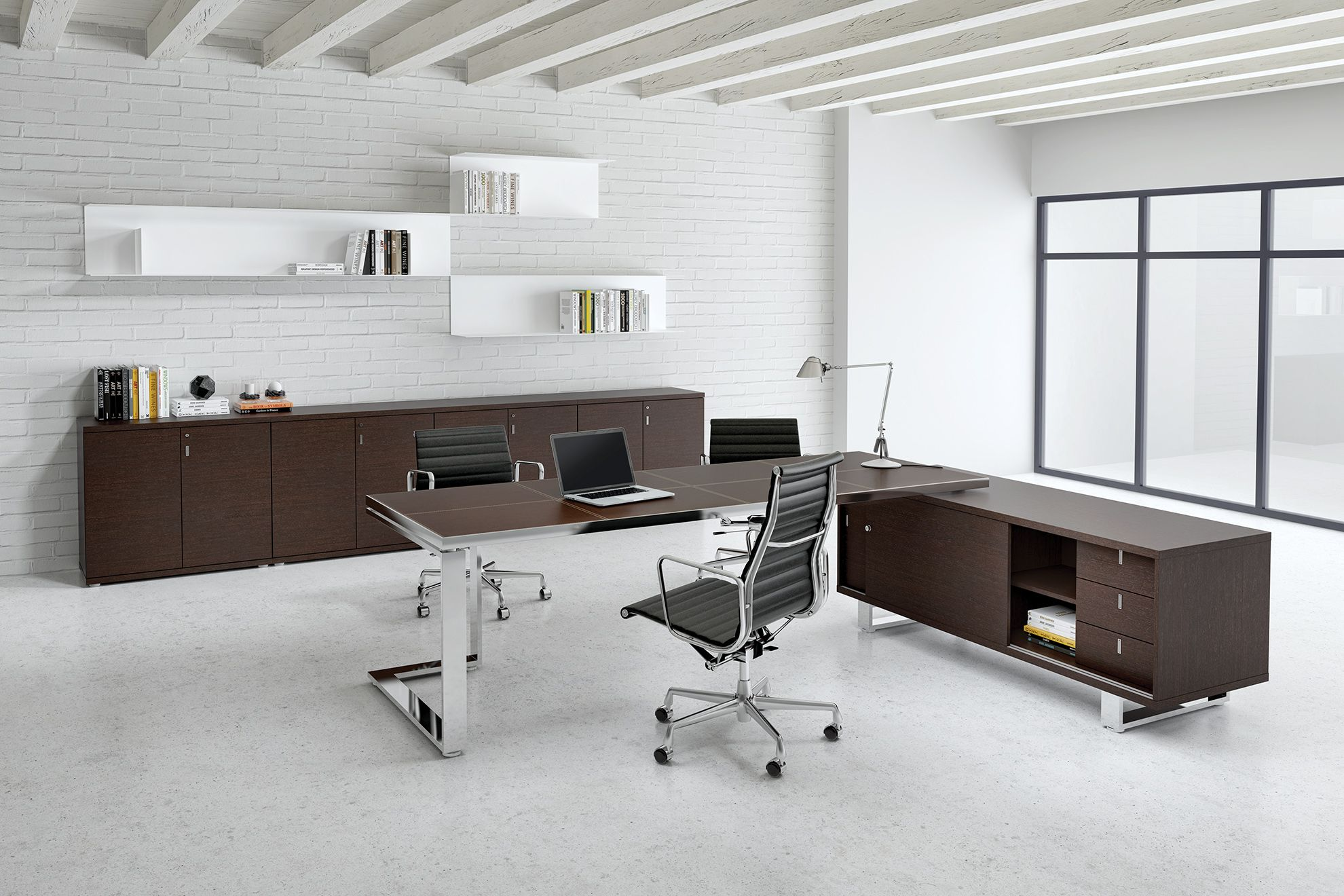 Desk kickstand furniture - Alea Archimede Executive Desk