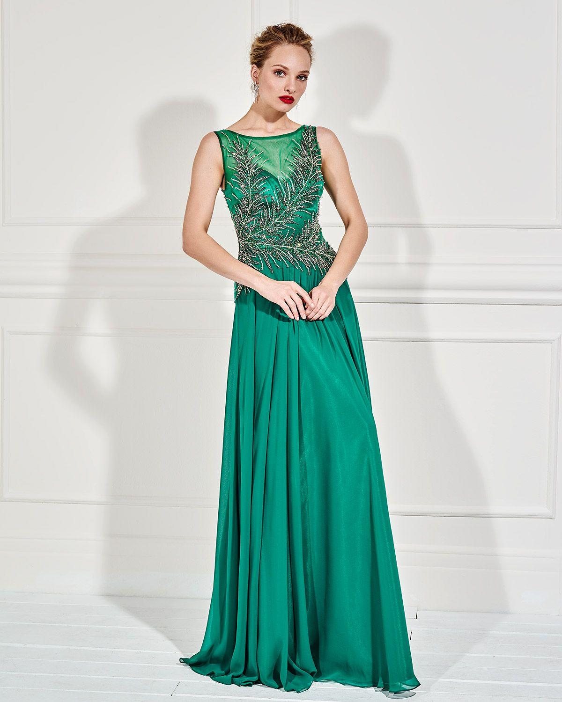 195d98eca7f Βραδυνά Φορέματα / Βραδινό μακρύ φόρεμα με κεντημένο μπούστο και ...