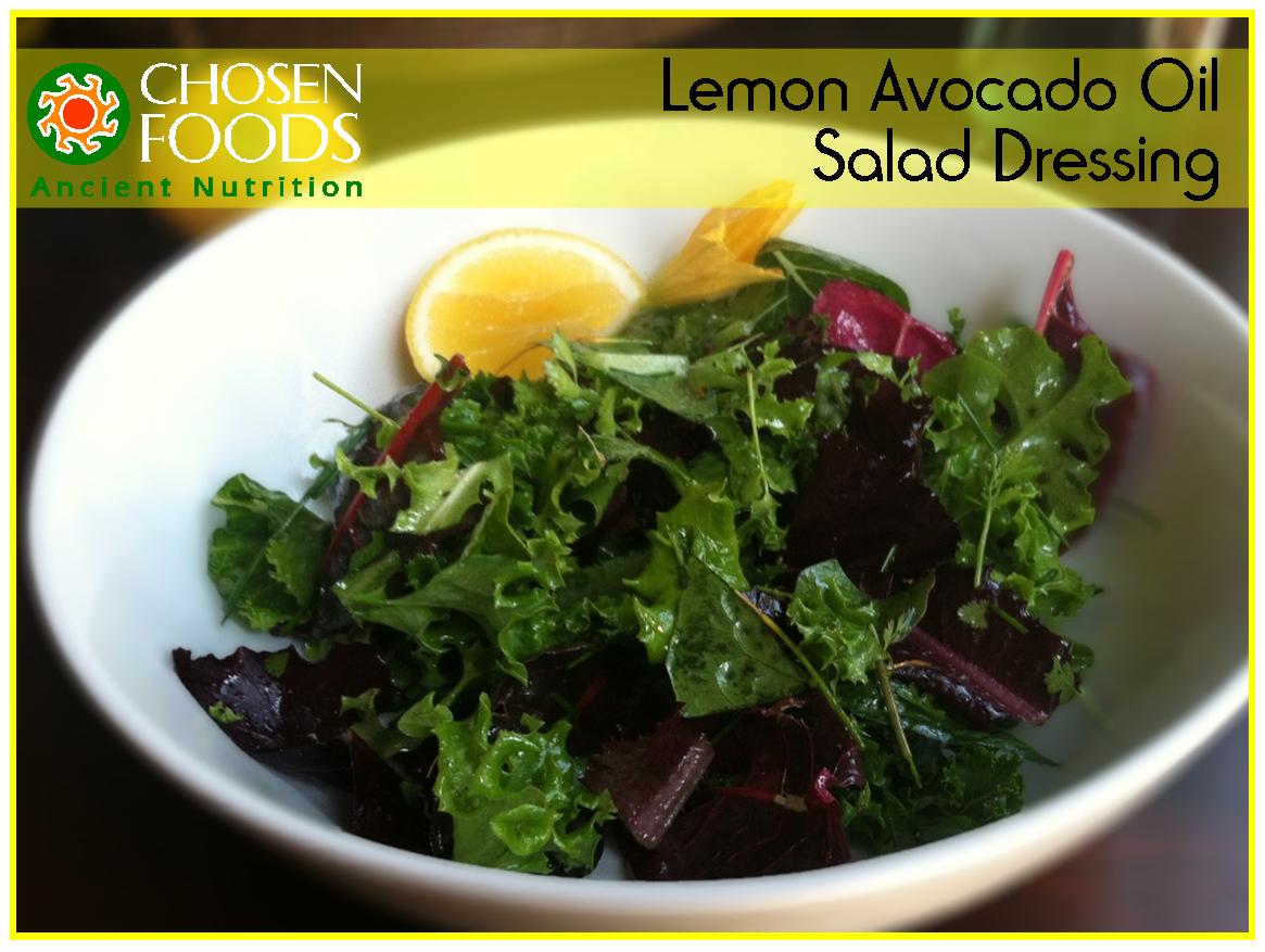 Lemony Avocado Oil Salad Dressing Avocado Oil Recipes Healthy Recipes Salad