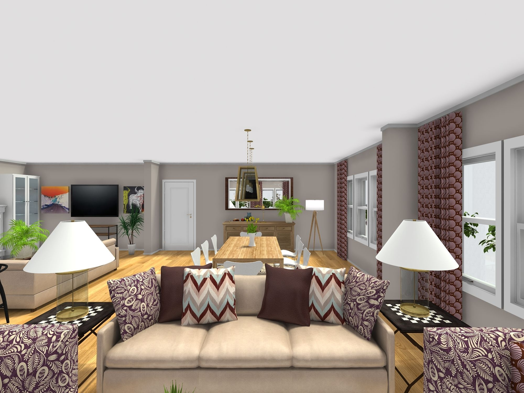 My Client Has A Big Open Plan Living Dining Room That Doesnt Have