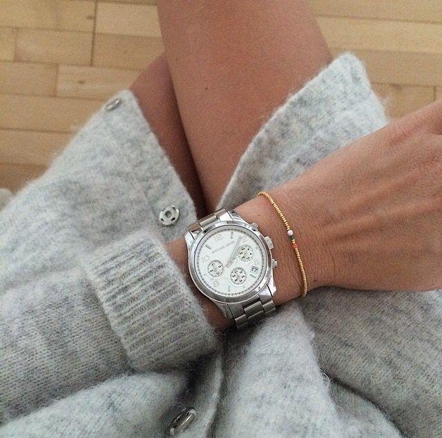 5101853c022 Michael Kors Runway Silver Chronograph watch MK5076