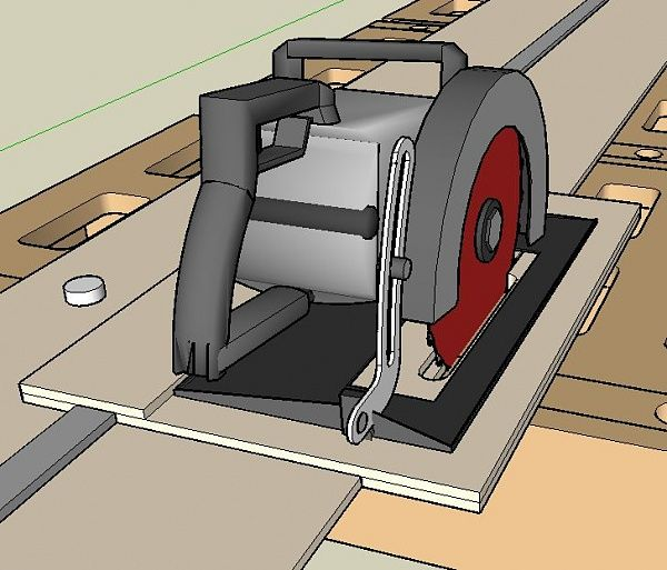 Circular Saw Rail Guide System Possibly Remove Some Of The Excess To Refine It Could Be Made From Mdf Circular Saw Woodworking Woodworking Jigs