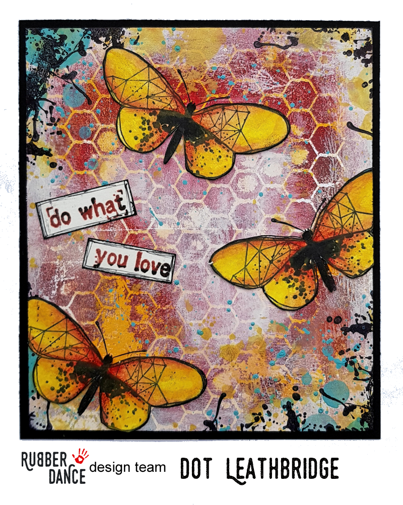 Mixed Media Grungy Butterfly Card #artjournalmixedmediainspiration