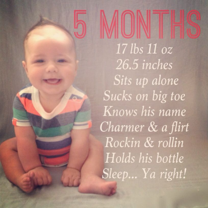 477a8d465 5 month milestone! Macklen! | Baby Foster | Baby month by month ...