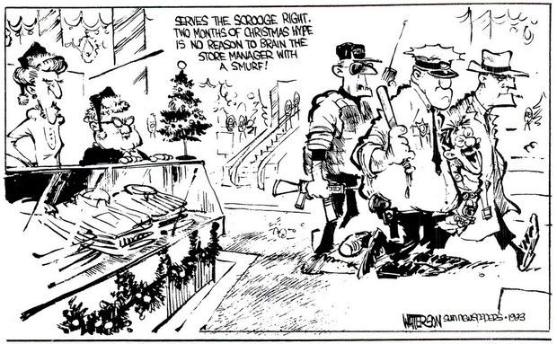 Bill Watterson political cartoon Cartoons Pinterest - master settlement agreement