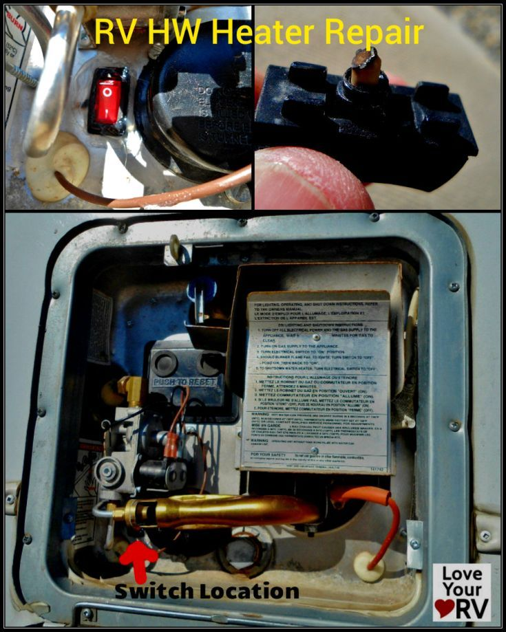 Faulty Electrical Switch On A Suburban Sw6de Hot Water Heater Rv Water Heater Electrical Switches