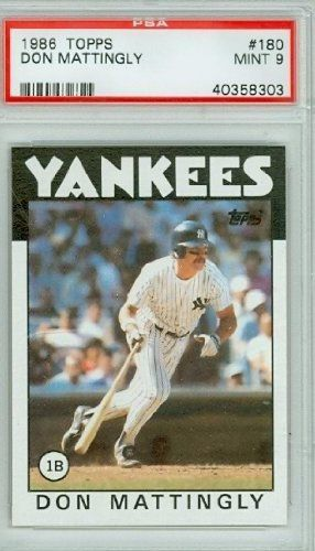 1986 Topps Baseball 180 Don Mattingly Yankees Psa 9 Mint By Topps 20 00 This Vintage Card Featuring Don Mattingly Is Don Mattingly New York Yankees Baseball