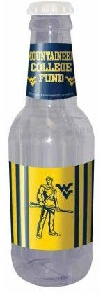 WVU Mountaineer Bottle Coin Bank #wvumountaineers Here's a great way to save up for that Mountaineer College Fund! #wvumountaineers