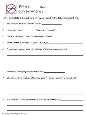 Bullying Survey Analysis   School Counseling   Pinterest