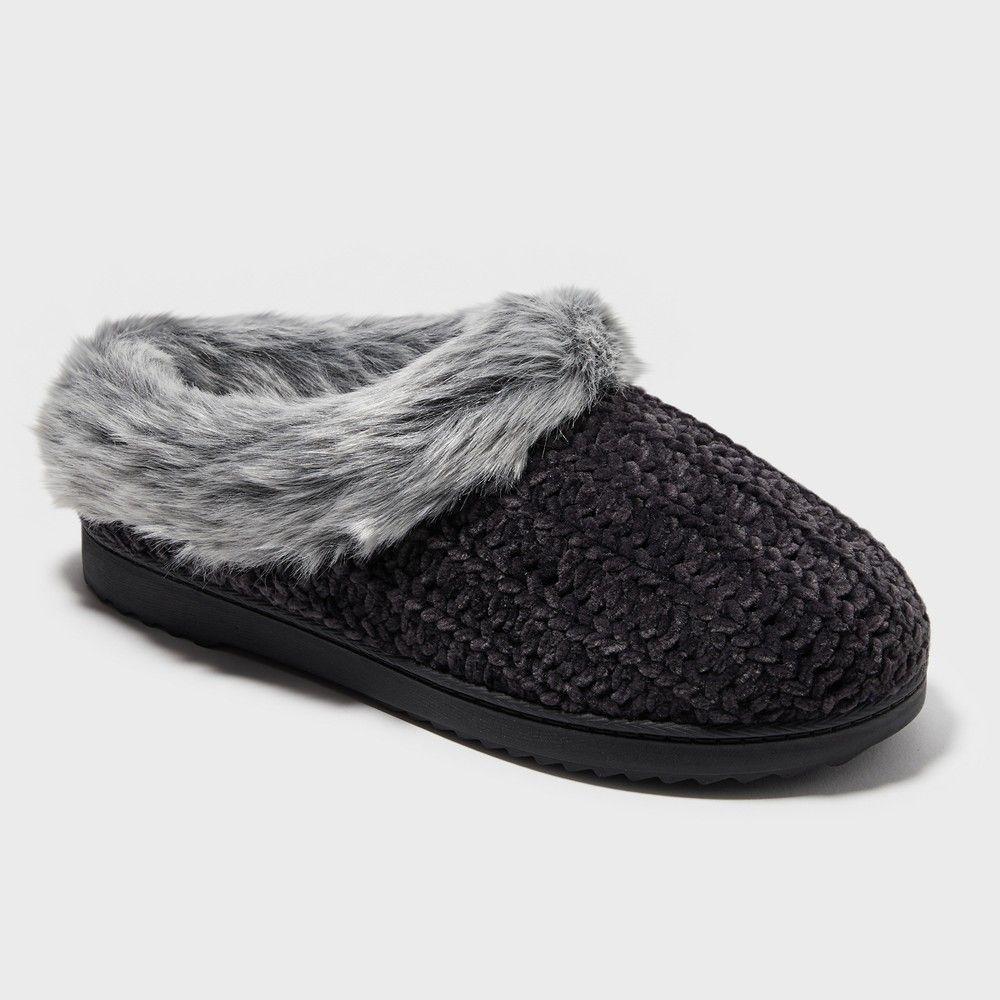 843f696c700 Women s Dearfoams Slide Slippers - Midnight Black XL
