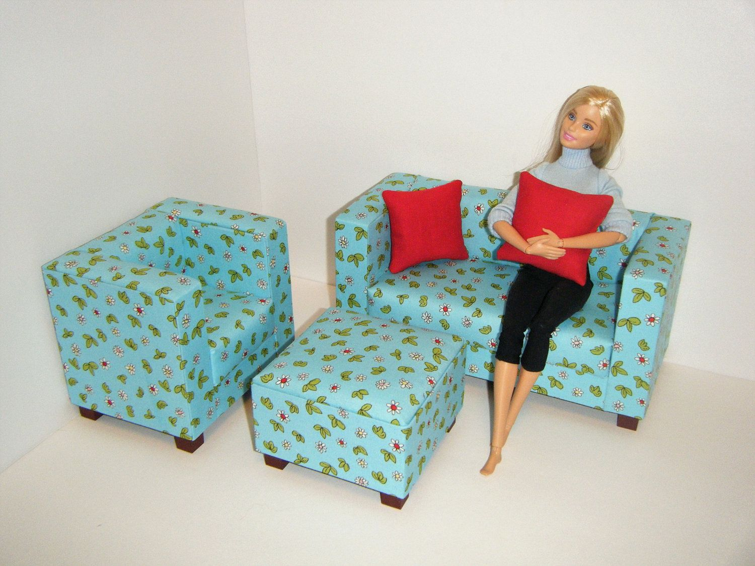 Remarkable Barbie Diorama Playscale Living Room Furniture Sofa Chair Short Links Chair Design For Home Short Linksinfo
