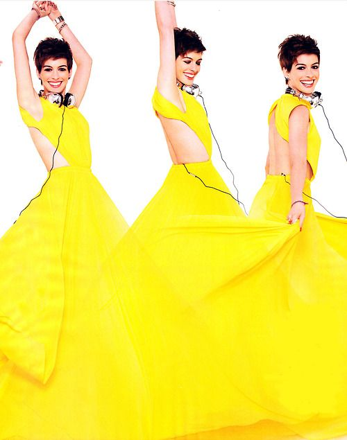 Anne Hathaway in A. McQueen- Glamour January