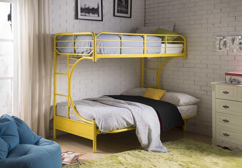 Acme Eclipse Twin Over Full Futon Bunk Bed In Yellow Walmart Canada Designs Minimalist Bedroom