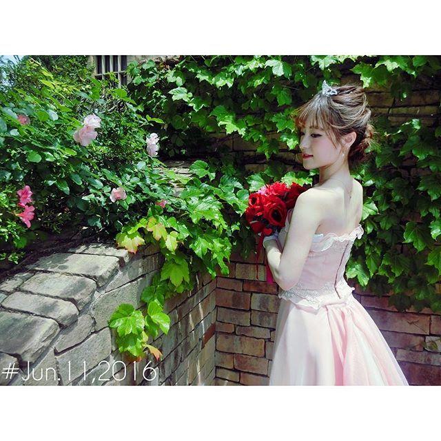 ロックハート城 自分の結婚式では 絶対に着ない色を選んだ 美咲可愛かったなぁ ・ ・ ・ 結婚しました嘘ですロックハート城群馬県プリンセス体験 プリンセス