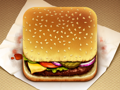 Iphone Icon http://dribbble.com/shots/372386-Hamburger-App
