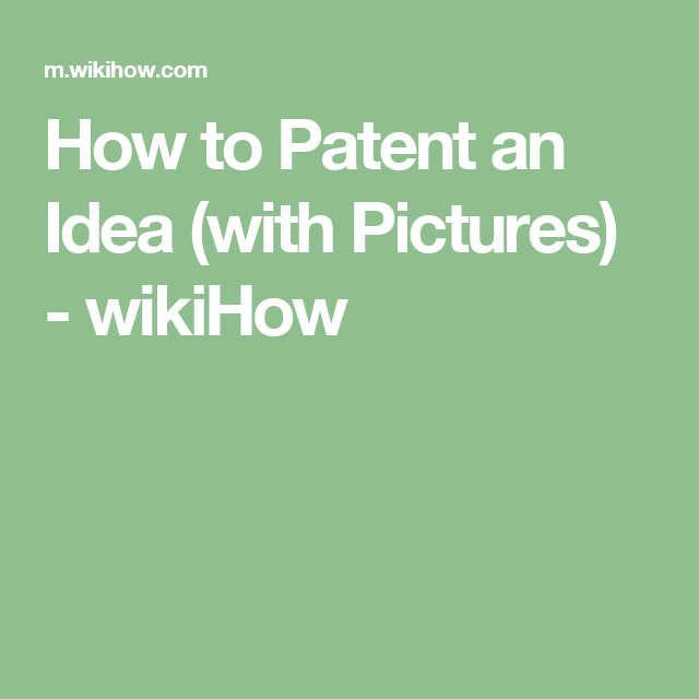 How To Patent An Idea With Pictures Fish Tank Patent Cycle