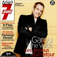 Garou en couverture de Télé 7 Jours