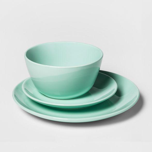 12pc Avesta Stoneware Dinnerware Set Green Project 62 Stoneware Dinnerware Sets Stoneware Dinnerware Elegant Dinnerware Set