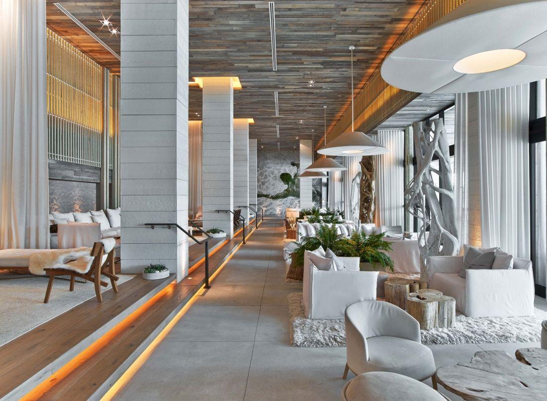1 Hotel South Beach Hotel Lobby Design Hotel Interior Design Beach Hotel Lobby