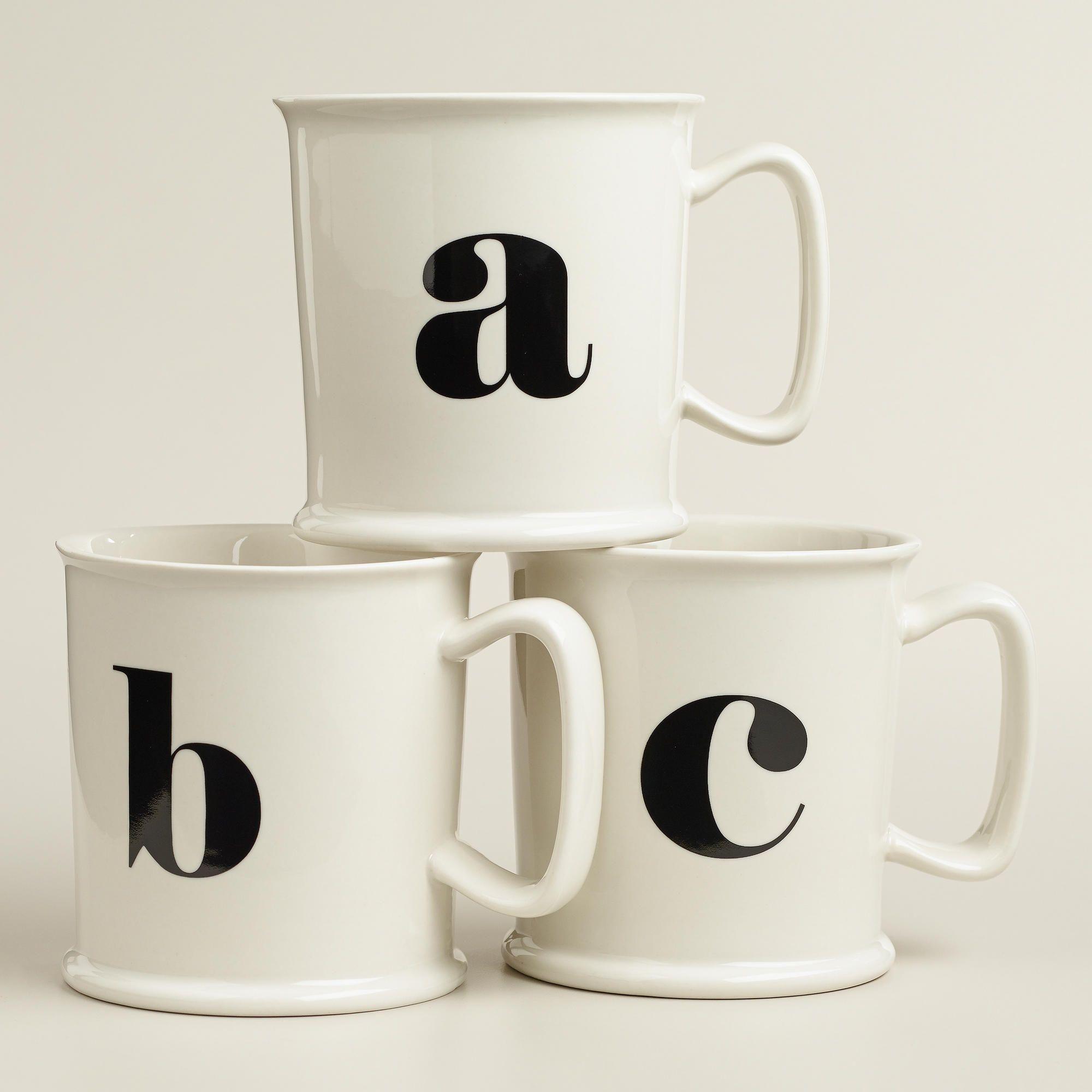 Monogram Porcelain Mug Collection >> #WorldMarket Holiday Gift ...
