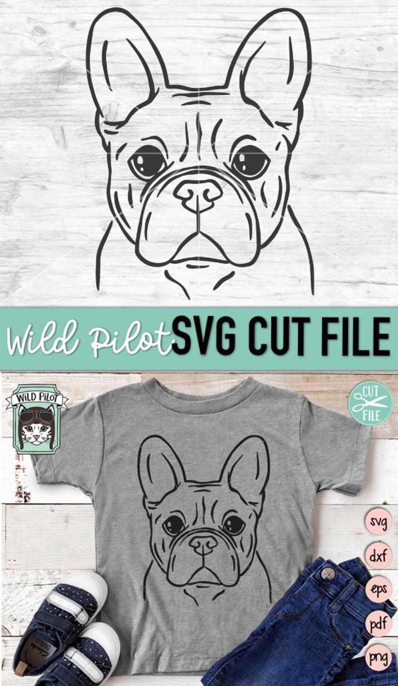 Frenchie Svg File Dog Svg File French Bulldog Svg File Etsy In 2020 Svg French Bulldog Bulldog