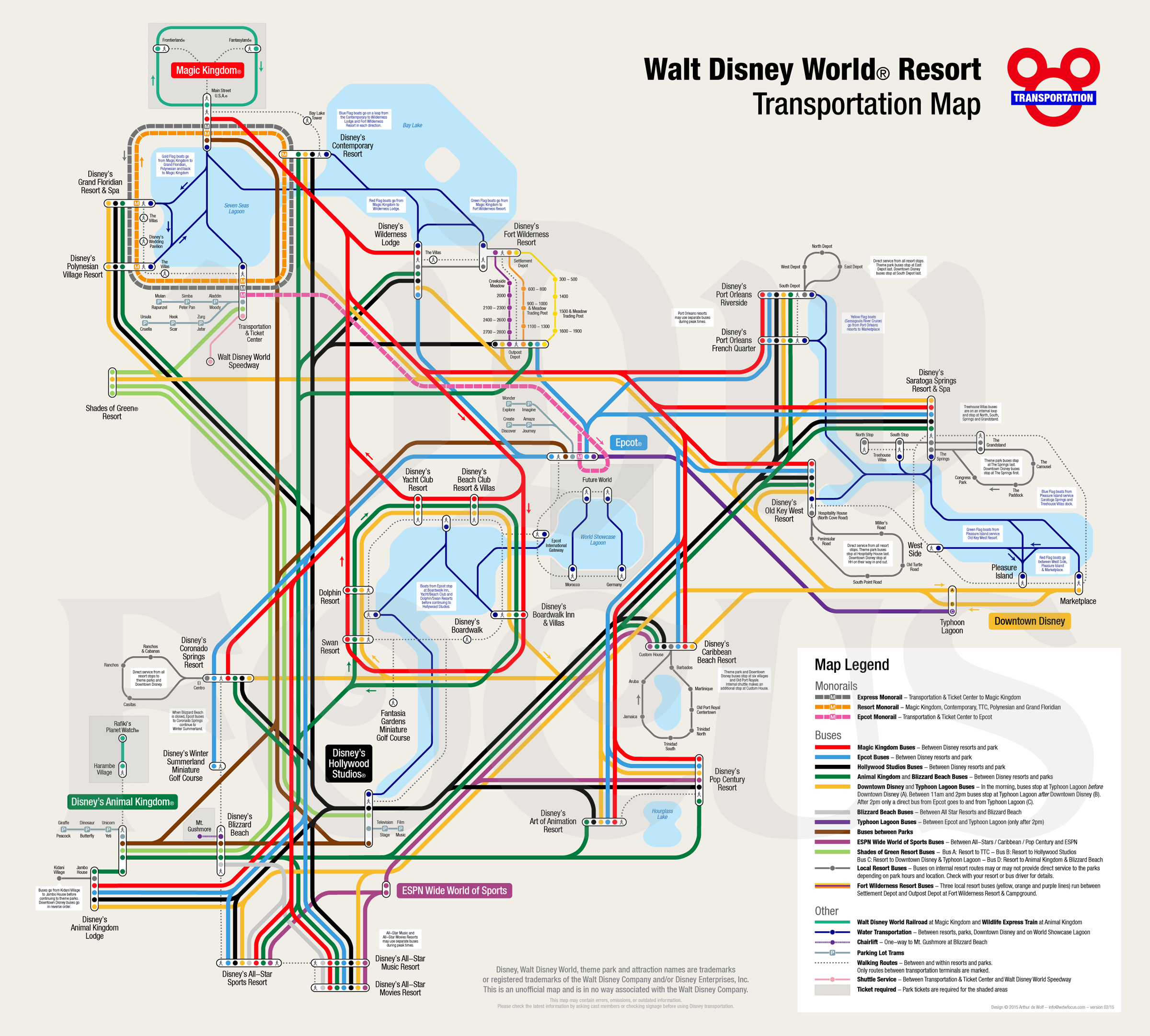 Disney World Bus Routes Map ~ CVLN RP