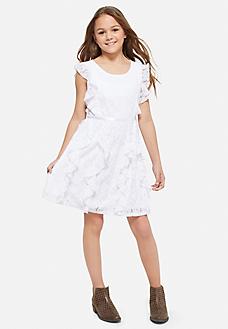 ruffle lace first communion dress