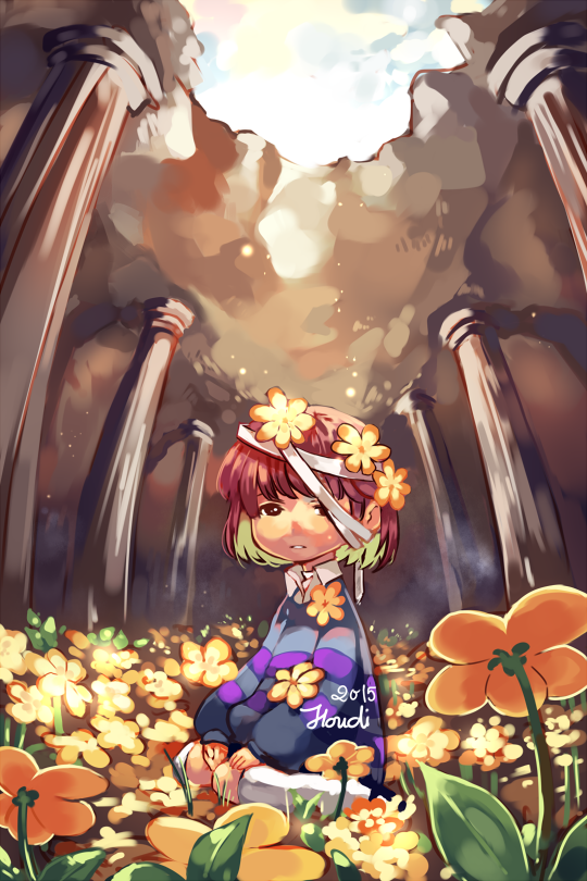 """houdidesu """"""""Golden Flowers. They must have broken your"""