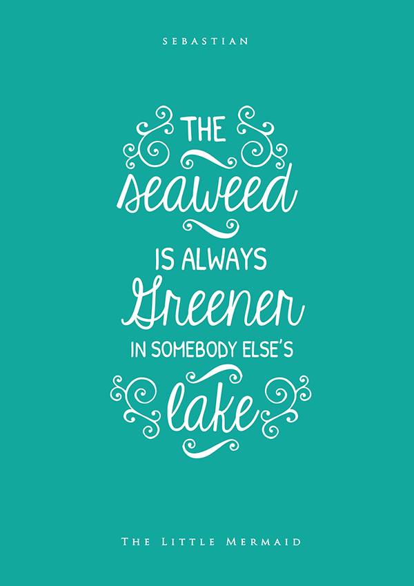 Lovely Typographic Posters Of Inspiring Quotes From Disney Movies