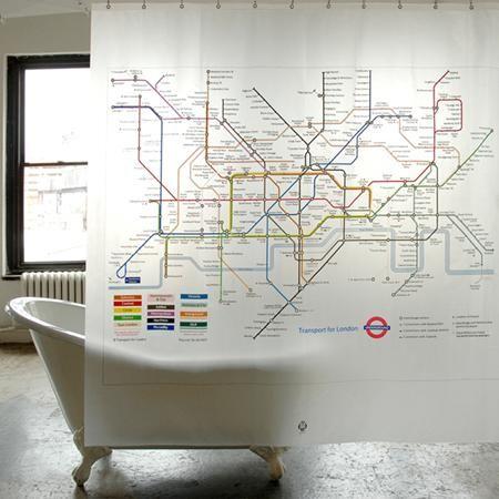 Izola nos propone una cortina de baño inspirada en el famoso mapa del Metro de Londres, diseño, sotisficación y elegancia para tu cuarto de baño.Las cortinas Izola están confeccionadas con materiales de alta calidad que garantizan su durabilidad y, además, pueden ser lavadas en la lavadora.