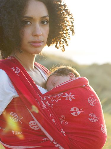Ladybirds Eros Organic Combed Cotton Baby Wrap by Oscha Slings size 6 £118