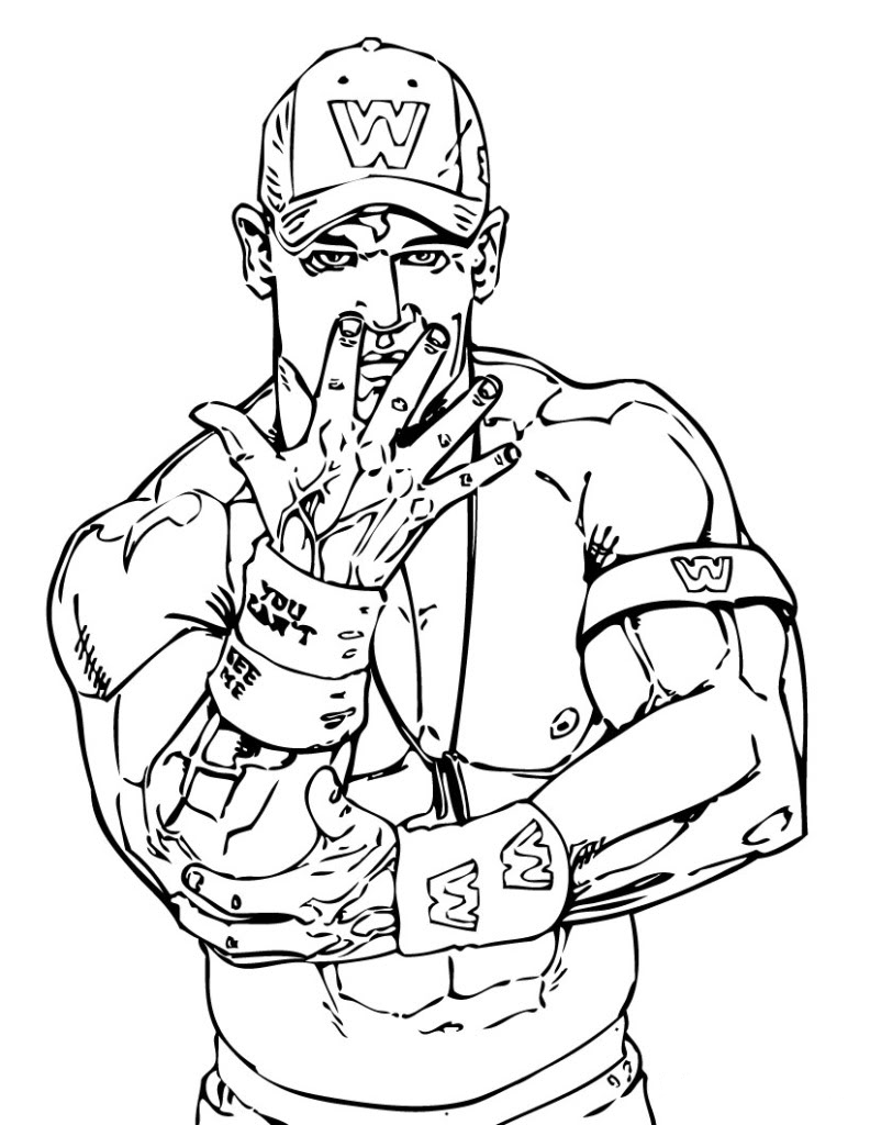 Wwe Coloring Pages Free Wwe Coloring Pages John Cena Birthday John Cena