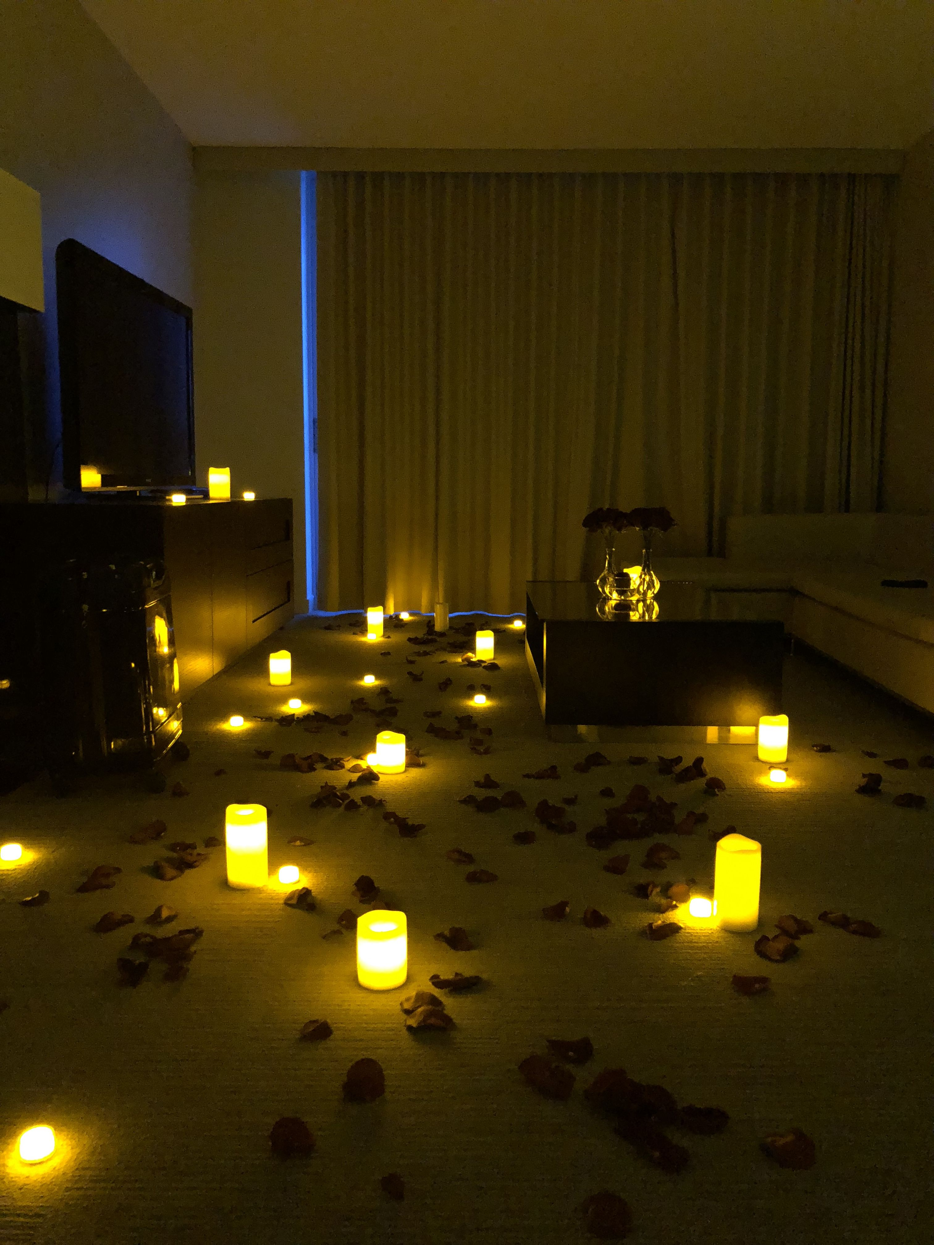 The Romantic Hotel Room Decoration With Real Rose Petals Candles And Flowers We Also Serve Cool C Romantic Hotel Rooms Romantic Room Decoration Romantic Room