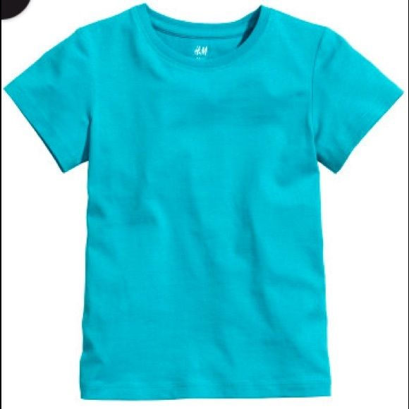 Pack of 2 boys t-shirts Aqua and Orange t-shirts for boys. Size 2-4y never worn. H&M Tops