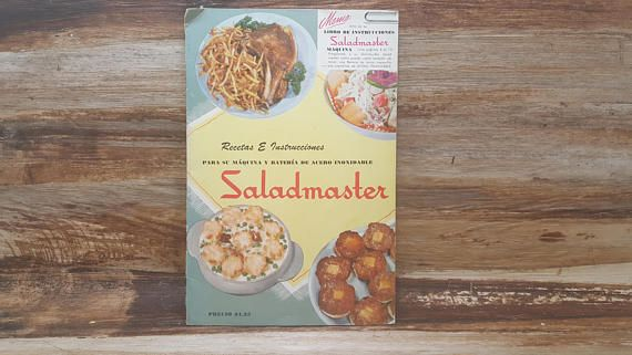 Saladmaster spanish 1953 vintage cookbook spanish book vintage saladmaster spanish 1953 vintage cookbook spanish book forumfinder Gallery