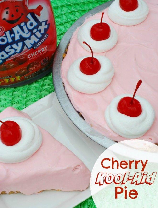 Cherry Kool Aid Pie Recipe Kool Aid Pie Recipe Dessert Recipes Fun Desserts